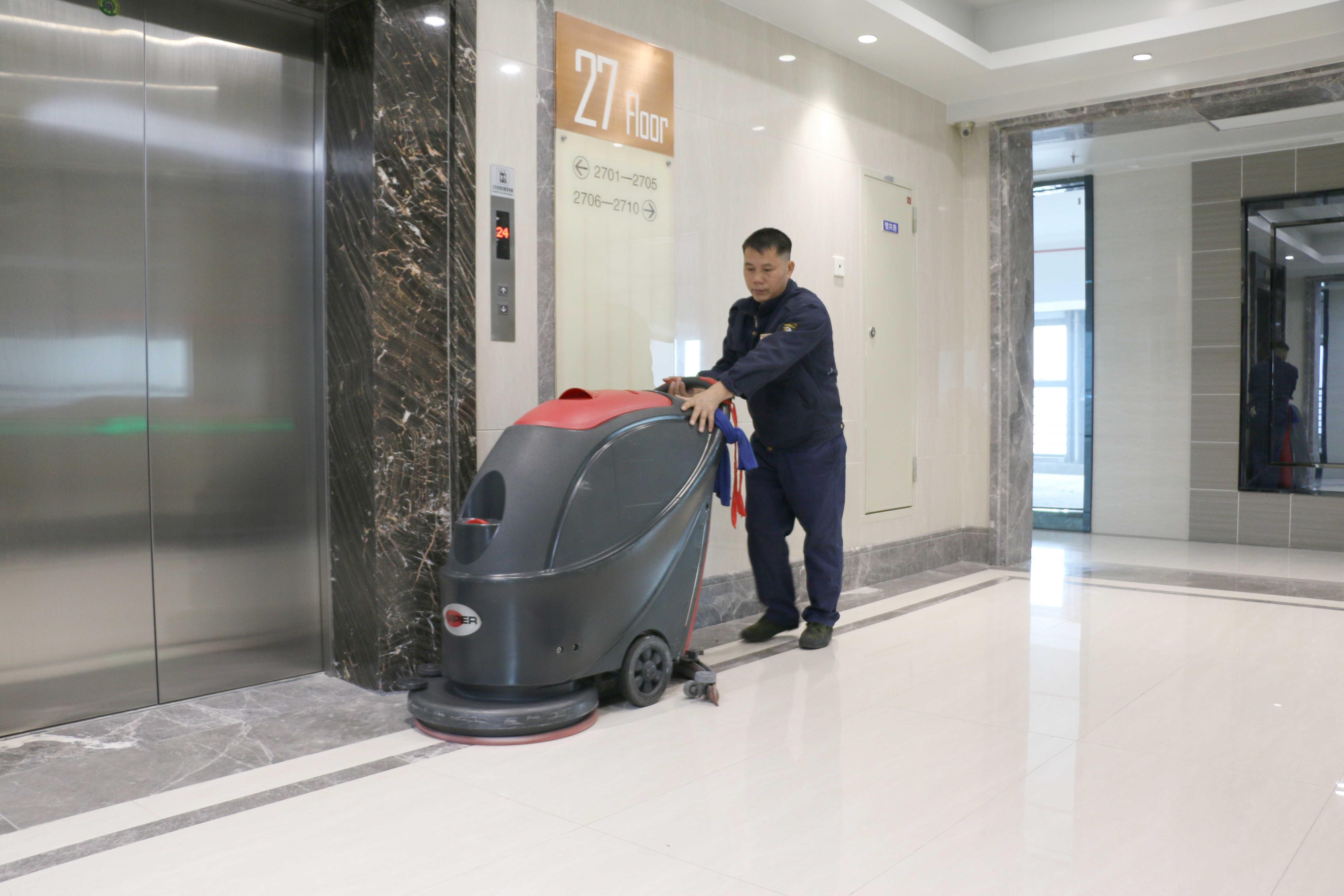 中山***物业有限公司订购全自动洗地机案例