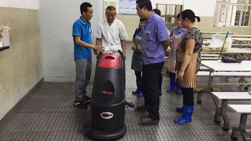 中山开发区***科技有限公司订购威霸全自动洗地机案例