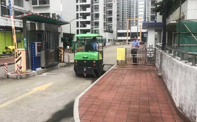 中山**物业采购驾驶式扫地机案例