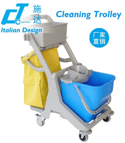 意大利CT施达 JTMBD25 多功能迷你清洁服务车 圆拖挤水桶