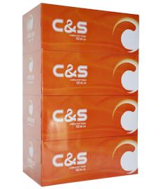 洁柔C&S180抽盒装纸面巾(4盒装)