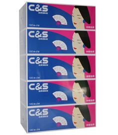 洁柔美女JH006-01 130抽盒装纸面巾(5盒装)