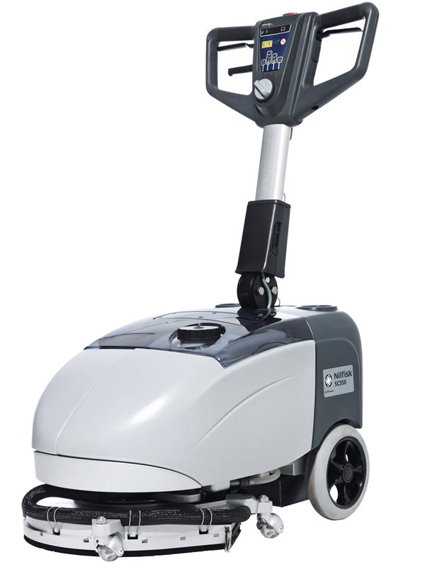 力奇先进小型洗地吸干机 手推式洗地机