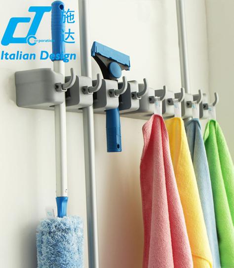 意大利CT施达 塑料挂钩 强力承重 清洁工具拖把挂钩 收纳置物架