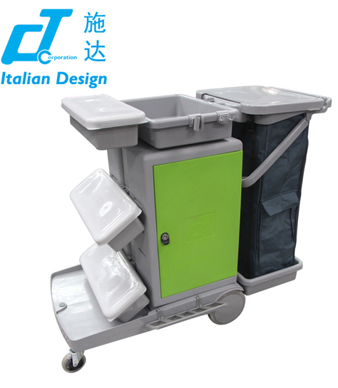 意大利CT施达 JT C151大型喷拖带储物箱服务平拖手推车