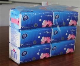 维达超韧抽取式纸面巾(蓝色6包装)