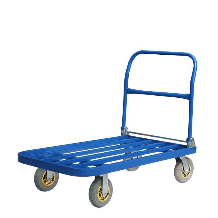 方管手推车折叠静音平板车推货车拉货车搬运车